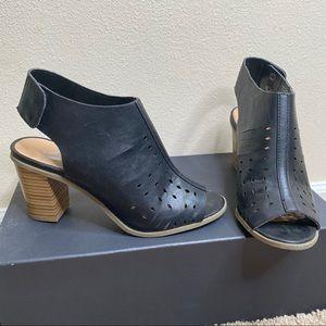 Report Open Toe Black Slingback Bootie Size 8